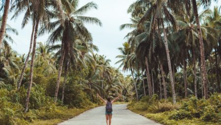 Surfing at Siargao in Philippines